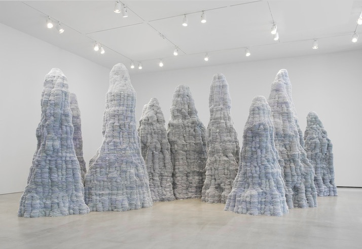 Tara Donovan, Untitled (2014) installation on view at Pace Gallery