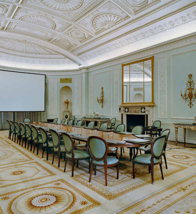 The meeting table of the Board of Directors of Banco Santander, Santander Spain, February 23, 2010